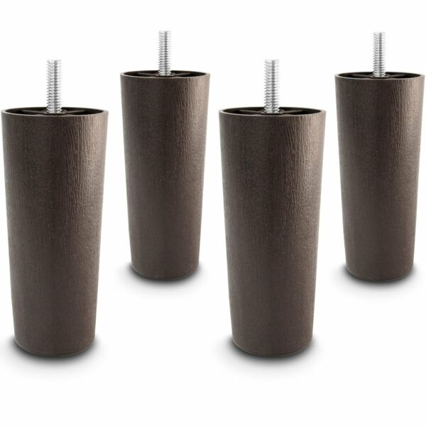 5quot; Universal Dark Brown Plastic Furniture Legs Sofa Couch Chair 5 16quot; Set of 4 $10.95