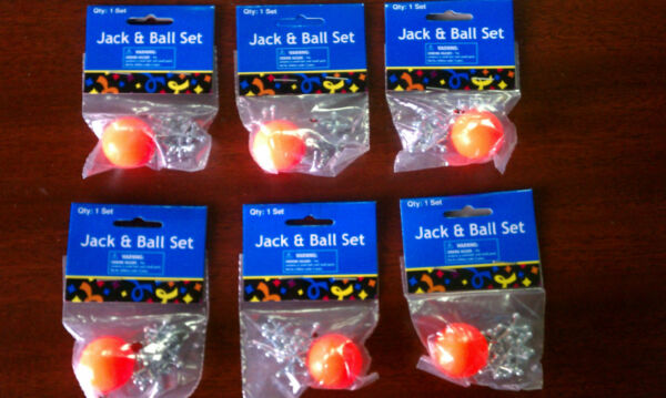 2 Sets of Metal Jacks and Ball - Classic Game - Birthday Party Give-A-Way Kid