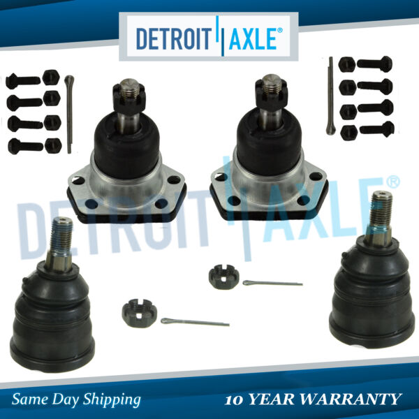 All (4) New Front Upper & Lower Ball Joint Assembly for Chevy Blazer Camaro