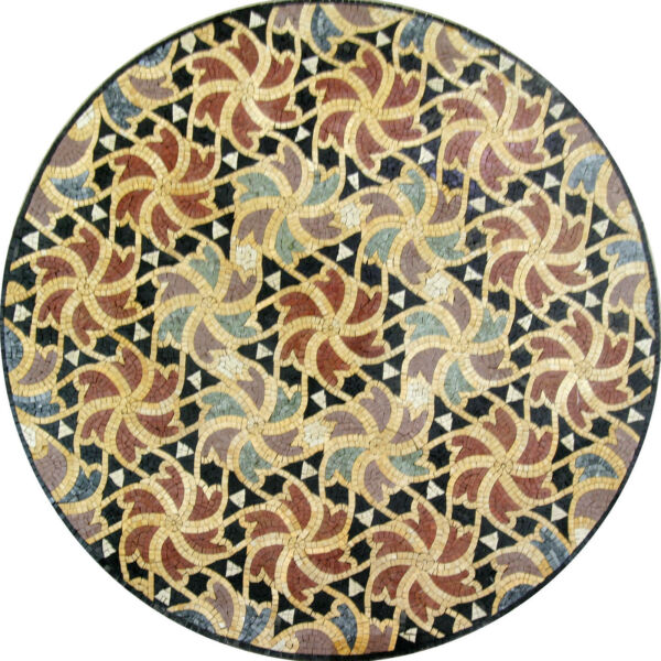 Modern Colorful Decor Round Medallion Tile Marble Mosaic MD1043