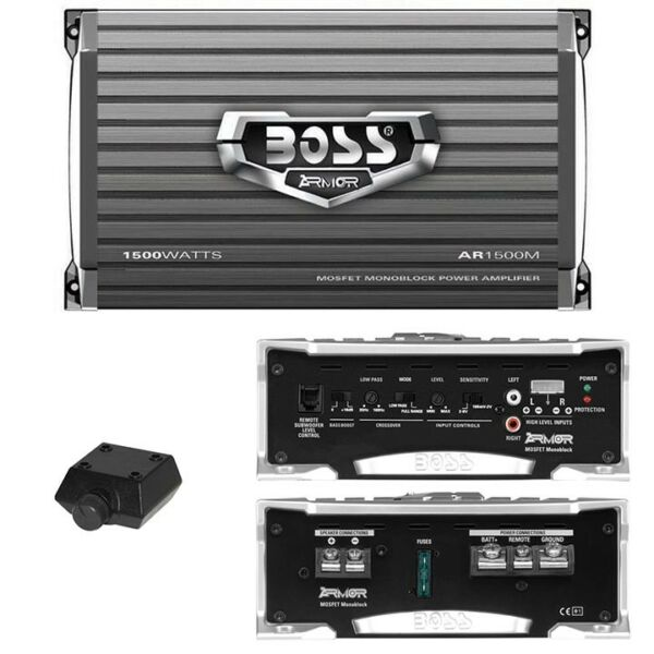 NEW BOSS ARMOR AR1500M 1500 WATT CAR AUDIO MONOBLOCK SUB WOOFER AMPLIFIER AMP
