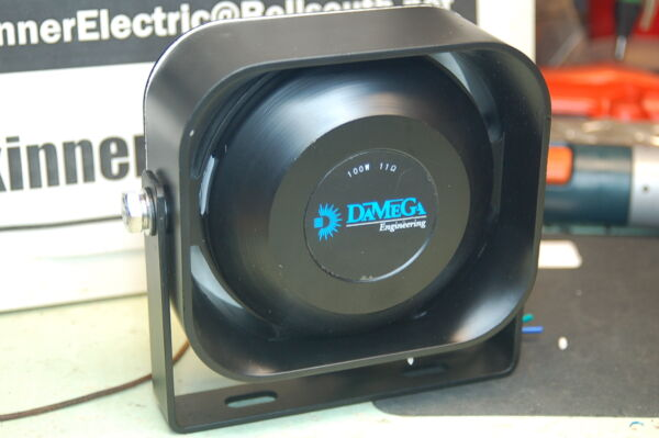 DaMega Compact SLIM Siren Speaker 100 watt 11ohm ShoMe Code3 Federal Signal Able