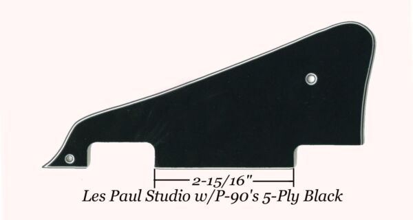 Les Paul LP Studio 5-Ply Black Pickguard WBracket Gibson Epiphone Project NEW