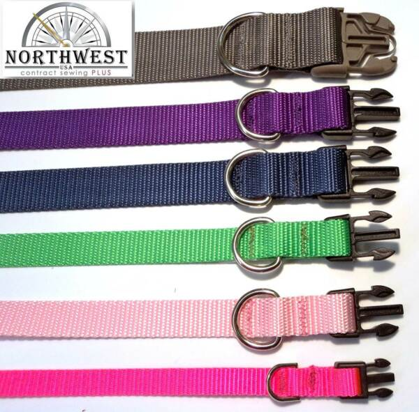 Nylon Dog Collars Various colors and sizes available Made in USA by NWCS $9.45