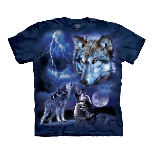 The Mountain Wolves of the Storm Adult Unisex T Shirt $18.65