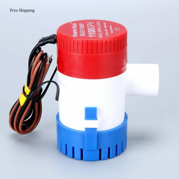12V 1100GPH Boat Submersible Plumbing Electric Bilge PumpsSmall SizeFree Ship