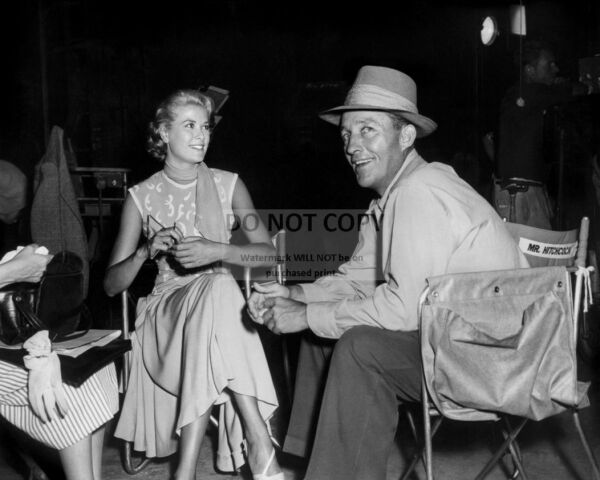 GRACE KELLY AND BING CROSBY ON THE SET OF quot;TO CATCH A THIEFquot; 8X10 PHOTO ZZ 099 $7.98