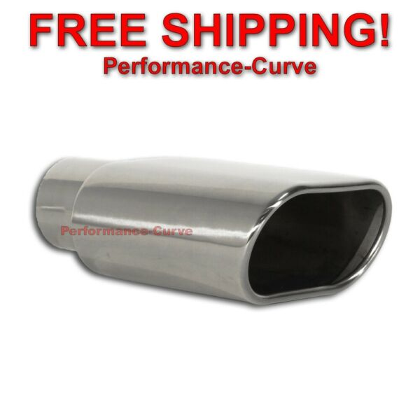 Stainless Steel Exhaust Tip Rolled Oval Slant 2.5