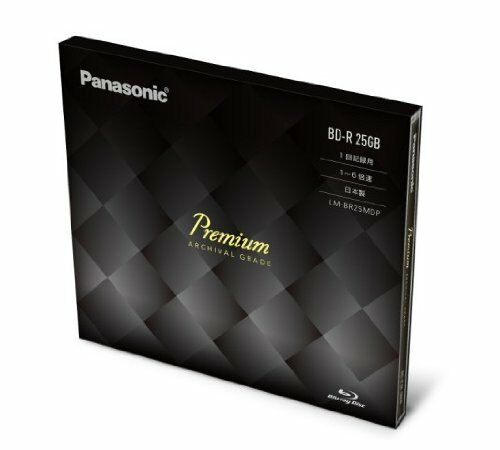 ya08689 Panasonic Premium Blu ray Disc 25GB 6x BD-R DL bluray Made in Japan