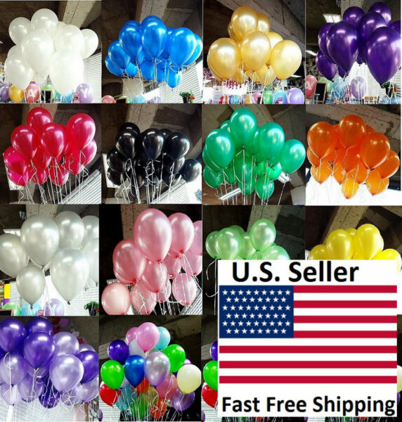 100pcs 10 inch colorful Pearl Latex Thickening Wedding Party Birthday Balloon $4.99