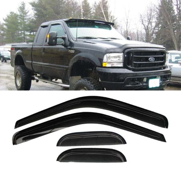 4pc Vent Shade Window Visors 99-16 F250F350F450 Super Duty Extended Cab