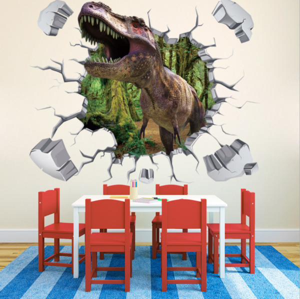 NEW 3D dinosaur T rex Removable Wall Stickers Decal Kids room Home Decor USA $7.34