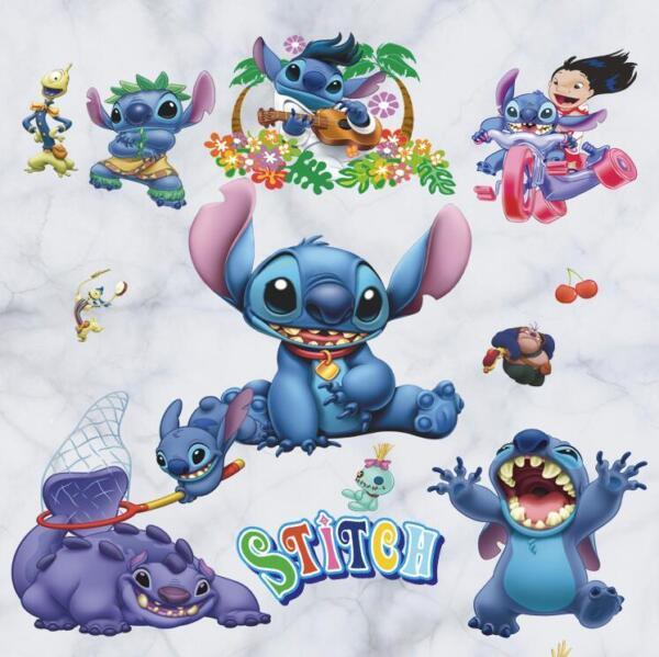 NEW Lilo amp; Stitch Removable Wall Stickers Decal Kids Nursing Room Home Decor USA $7.34