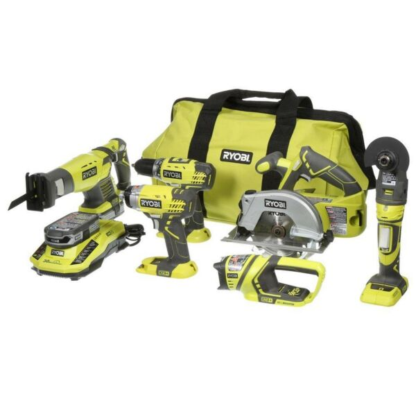 Ryobi ONE+ 18-Volt Lithium-Ion Ultimate Power Tool Combination Kit (6-Tool Set)