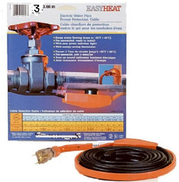 AHB Electric EASY HEAT Water Pipe Freeze Proof Heated Cable Tape PICK SIZE