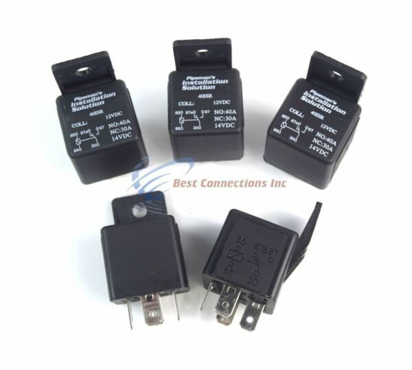 5 Pack Audiopipe 12 Volt 5 Pin SPDT 30 40 Amp Relay Sealed Auto Car Truck