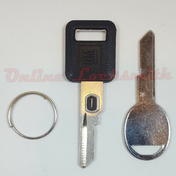 New OEM VATS Key B62-P4 GM Logo For Buick Cadillac Chevy Olds' + Door Key B45
