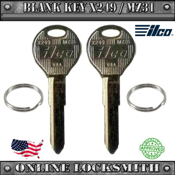 2 New Keys For Mazda Protegé 1997-2003 and other Mazda Vehicles X249 / MZ31