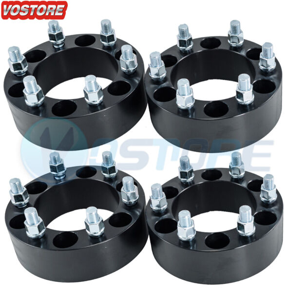4 2quot; Wheel Spacers Adapters 6x5.5 fits Chevy Silverado 1500 Tahoe Suburban GMC