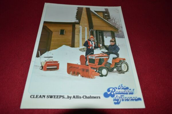 Allis Chalmers Lawn And Garden Snow Removal for 1980 Dealer#x27;s Brochure HVPA