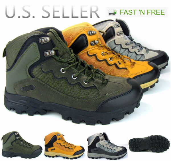 Men's Hiking Boots Sneakers Ankle High Top Trail Walking Camping Outd