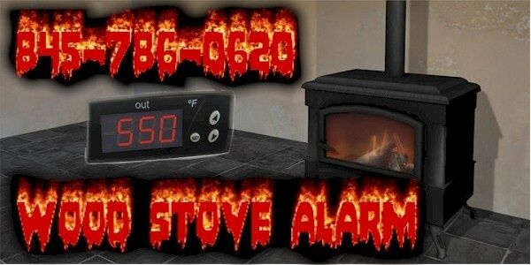 Woodstove stove pipe Alarm Thermometer flue temp wood