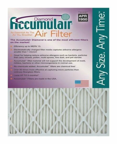 Accumulair Diamond 1-Inch MERV 13 Air FilterFurnace Filters (2 pack)