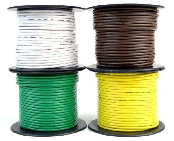 Trailer Wire Light Cable for Harness 4 Way Cord 16 Gauge - 100ft roll - 4 Rolls