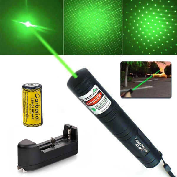 Military 10 Miles 532nm Green Laser Pointer Pen Visible Beam Star Cap High Power