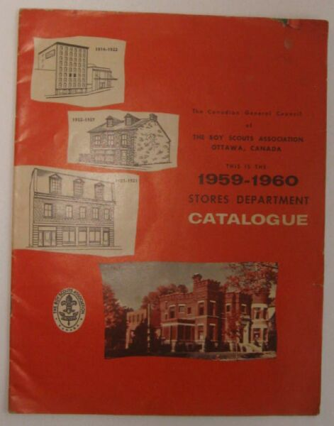Catalog For The Canadian Gereral Council of The Boy Scout Association  1959/60