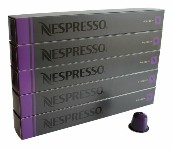 Nespresso 10 Sleeves 100 Capsules Arpeggio New Best Deal!Kosher.Original Brand