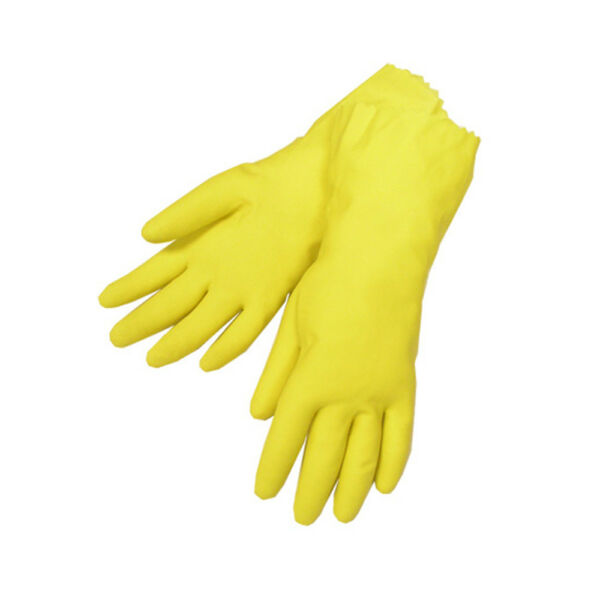 Yellow Latex Household Cleaning Dishwashing Gloves – 1 Pair 2 Gloves Large