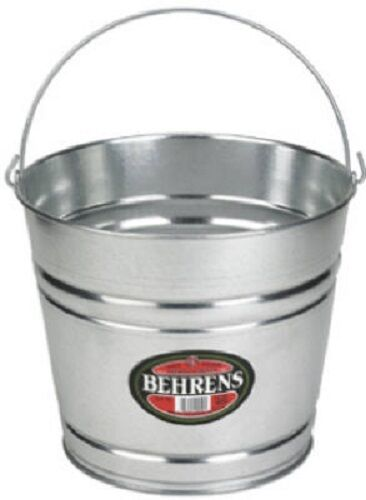 (24) Behrens 1210GS 10 Quart Galvanized Steel Metal Water Pail Buckets w Handle