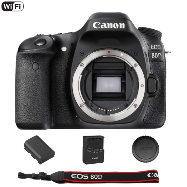 Canon EOS 80D 24.2 MP Built-In WiFi DSLR Camera (Body)