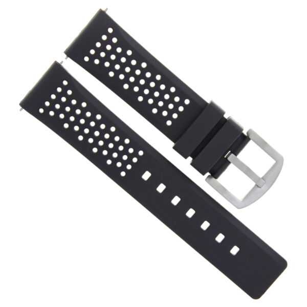 22MM RUBBER SILICONE DIVER WATCH STRAP BAND FIT OMEGA PLANET OCEAN WATCH BLACK