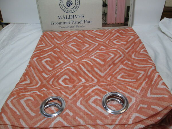 Caribbean Joe Island Supply MALDIVES Grommet Panel Pair Two 40
