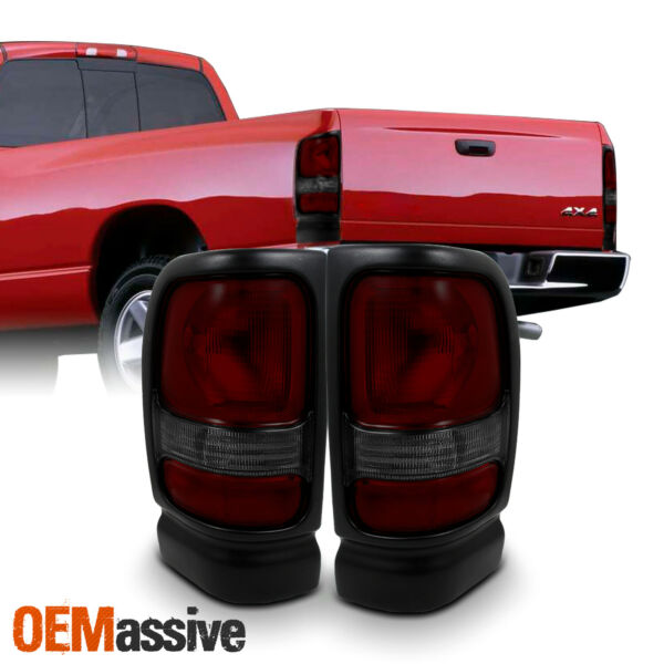 Fits 94-01 Ram 150025003500 Pickup Dark Red Taillights Brake Lamps Replacement