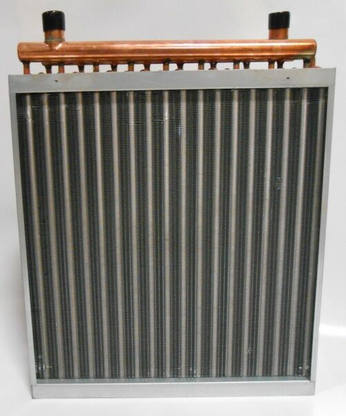 16x16 Water to Air Heat Exchanger Hot Water Coil Outdoor Wood Furnace $115.00