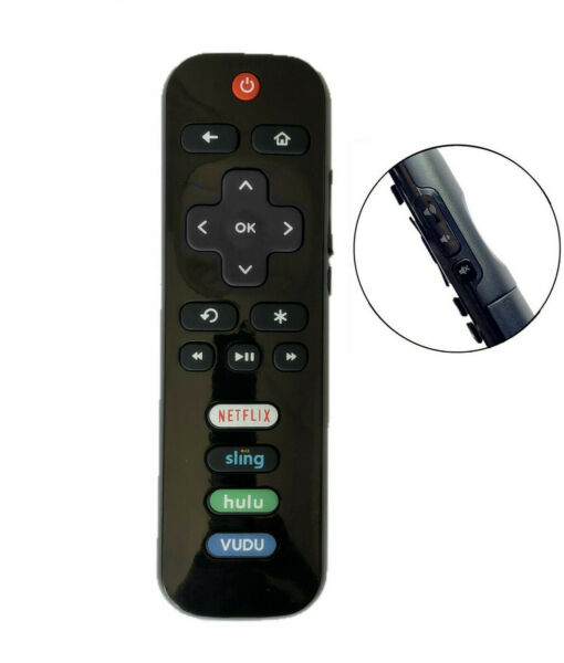 New Replaced Remote FIT for Roku TV™ TCL Sanyo Element Haier RCA LG Philips
