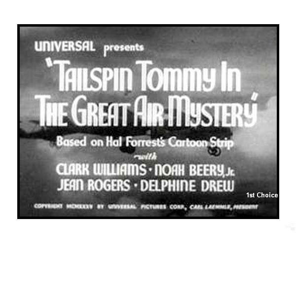 Tailspin Tommy and the Great Air Mystery Classic Cliffhanger Serial Movie DVD $4.99