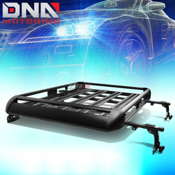 50quot;X 38quot;ALUMINUM ROOF RACK SUV TOP CARGO BAGGAGE CARRIER BASKETCROSSBAR BLACK $96.88