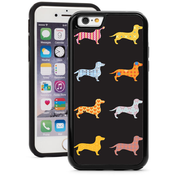 For iPhone X XS Max XR 7 8 Plus Shockproof Hard Case 1516 Dachshund Dog Patterns $14.99