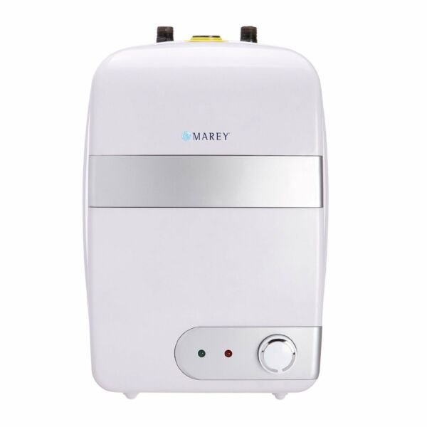 Marey TANK10L Mini Tank Electric Tankless Water Heater 2.5 GL Small White 120V