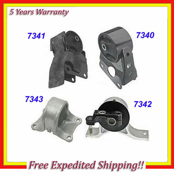 Engine Motor & Trans. Mount Set 4PCS 2002-2006 Nissan Altima 2.5L for Auto M029