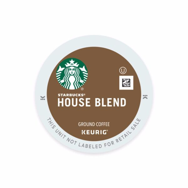 Starbucks House Blend Decaf K-Cups For Keurig Brewers - 96 Count Pack - NEW