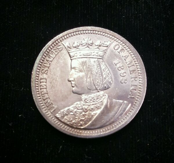 1893 Queen Isabella Columbian Quarter Dollar