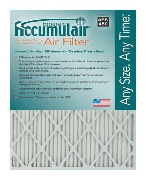 Accumulair Emerald MERV 6 Air FilterFurnace Filters (4 pack)