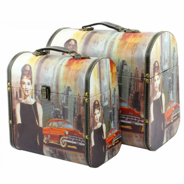 LP28016 AUDREY HEPBURN DOMED CASES STORAGE BOX SMALL LARGE SIZES LESSER