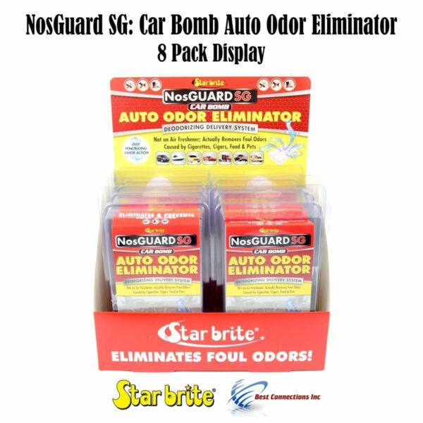 Auto Odor Eliminator Control System Car Bomb Star Brite 19908 *8 Pack Display*