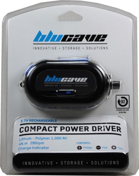 BluCave Compact Power Driver - 3.7V Rechargeable Screwdriver